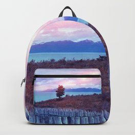 Sunset and lone tree Backpack