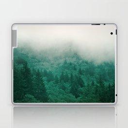 Misty Moody Mountain Forest Fog Northwest Oregon Washington Laptop & iPad Skin