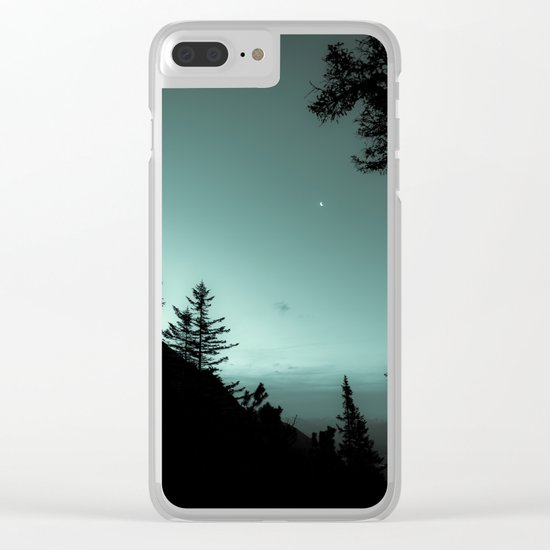 Moonlight Poem Clear iPhone Case