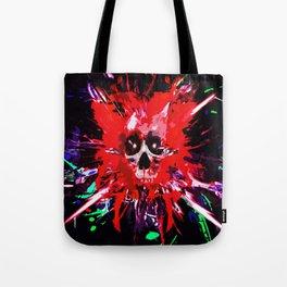 Splatter Skull (red) Tote Bag