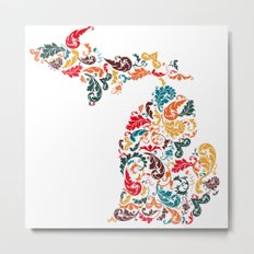 Michigan Colors Metal Print