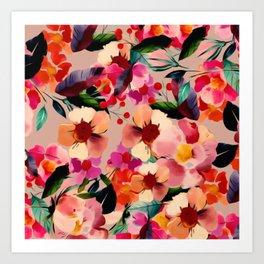 Velvet Blooms Art Print