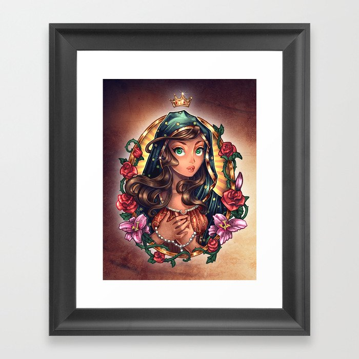 Our Lady Of Guadalupe Framed Art Print By Timshumate Society6