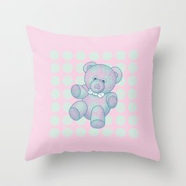 Snoozy – the Little Teddy Bear Throw Pillow