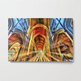 Bath Abbey Sun Rays Van Goth Metal Print