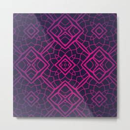 Lovely Lace Geometric Metal Print