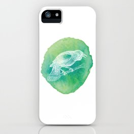 Watercolor Certified Bird Lover? T-shirt Design Birdline Fly High Feather Parrot Wings Zoo Sky iPhone Case