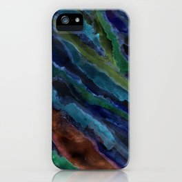 Abstract in Blue iPhone Case
