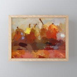 Five Angry Pears Framed Mini Art Print