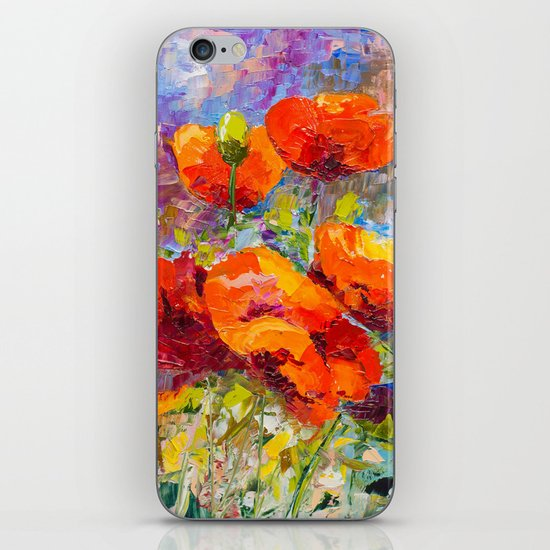 Wild poppies iPhone Skin