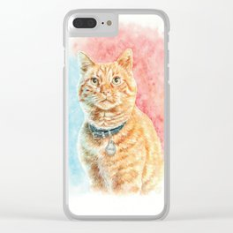 Goose The Cat Clear iPhone Case