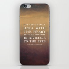 IV. Anything essential is invisible to the eyes. iPhone & iPod Skin