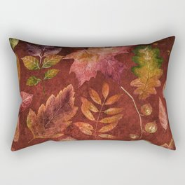 My favorite color is october- Colorful autumnal leaves pattern Rectangular Pillow
