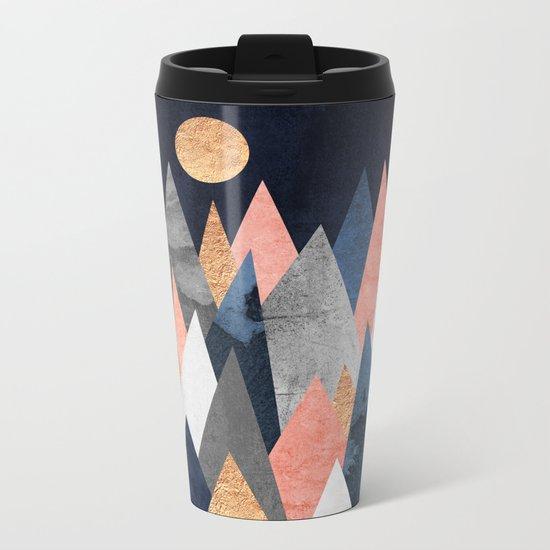 Gold Moon Metal Travel Mug