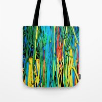 anxiety Tote Bags featuring Anxiety by Yolanda's Prints