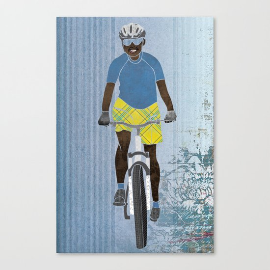 Bicycle girl 1 Canvas Print
