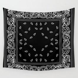 Black & White Bandana Wall Tapestry