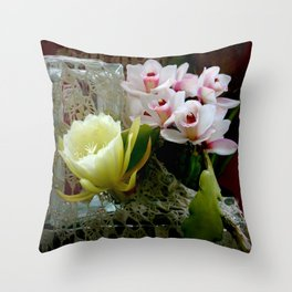 Heavenly May Flowers, Looking Up Throw Pillow