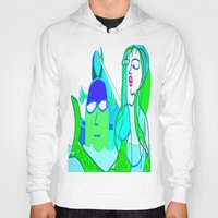 aquaman Hoodies featuring aquaman and the mermaid by Davey Charles