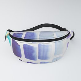 3  |190326 Watercolor Brush Strokes Fanny Pack