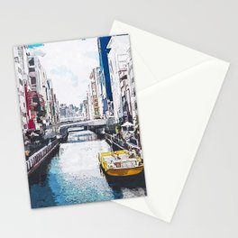 The River City Watercolor Stationery Cards