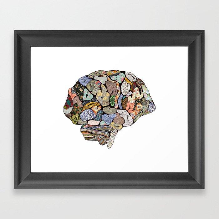 my brain looks different Framed Art Print