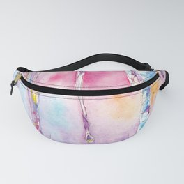 Spring icicle - abstract watercolor background Fanny Pack
