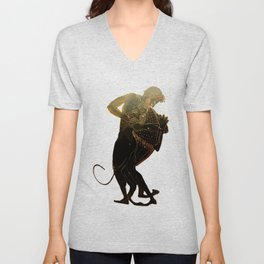 Hercules and The Nemean Lion Unisex V-Neck