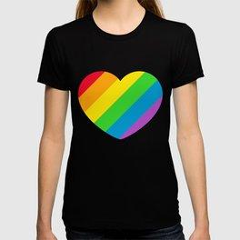Rainbow LGBT Pride Heart T-shirt