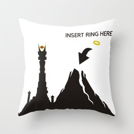 Lord of the Ring Intructions Throw Pillow