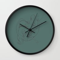 mermaids Wall Clocks featuring Mermaids by Grazia_art