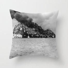 Zeppelin crash (Hindenburg) Throw Pillow