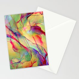 Neon Pop - Tropical Ink Painting Stationery Cards