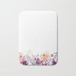 Vertical watercolor Bath Mat