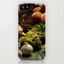 Fresh Pasta and ingredients iPhone Case