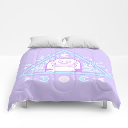 Witchy Cat Paw 01 Comforters