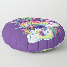 Rainbow Apocalypse Floor Pillow