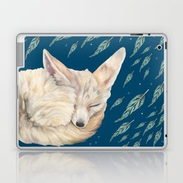 Fennec Fox Feather Dreams in Turquoise Laptop & iPad Skin