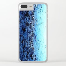 Blue Ombre CrystalS Clear iPhone Case