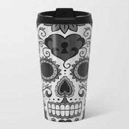 Día de los Muertos - Grey Metal Travel Mug
