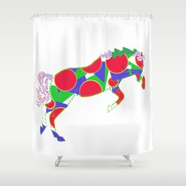 Happy Horse 1 Shower Curtain