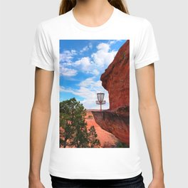 Disc Golf Basket in Moab Utah T-shirt