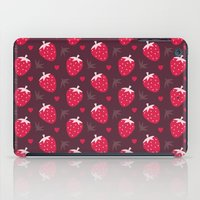 nutella iPad Cases featuring STRAWBERRIES AND CHOCOLATE by Daisy Beatrice