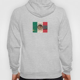 Old Vintage Acoustic Guitar with Mexican Flag Hoody