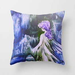 Lost Girl 2 - Blue Forest Throw Pillow