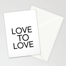 LOVE TO LOVE Stationery Cards