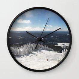 Snowy Horizon #2 Wall Clock