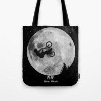 gta Tote Bags featuring GTA Bike Glitch by JOlorful