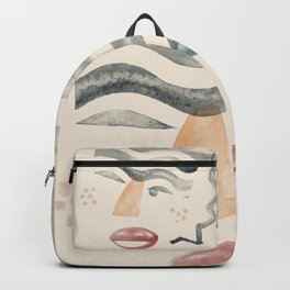 Portrait with Wavy Hair  Backpack