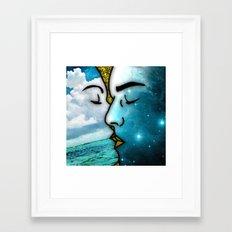 Lover's Kiss Framed Art Print